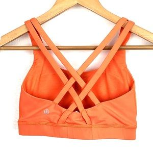 Lululemon Orange Energy Bra size 4
